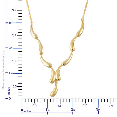 LucyQ Continual Drip Necklace (Size 16 with 4 inch Extender) in Yellow Gold Overlay Sterling Silver 17.65 Gms.