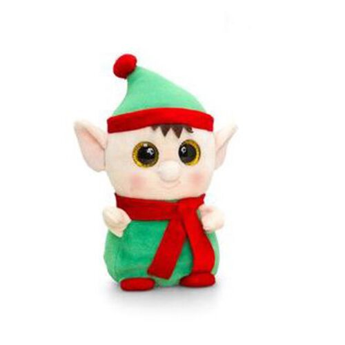 Keel Toys - Green, Red and Light Peach Colour Elf Toy (Size 14 Cm)