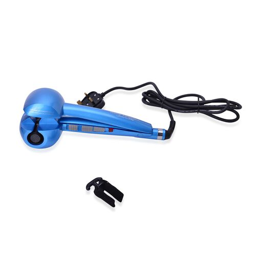 Blue Colour Ceramic Hair Curl Machine with 3 Heat Settings and Audio Alarm Function
