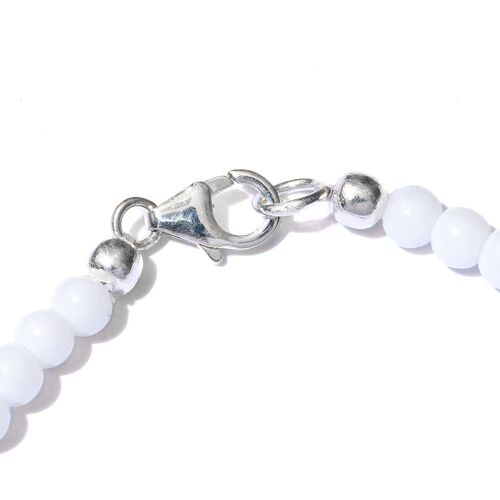 White Topaz and White Quartzite Bracelet (Size 7.5) in Sterling Silver 16.380 Ct.