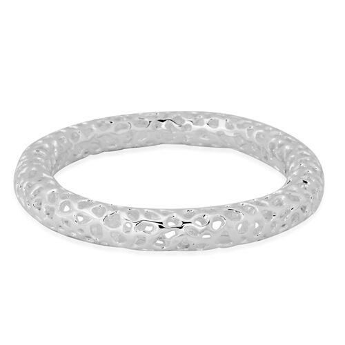 RACHEL GALLEY Sterling Silver Allegro Bangle (Size 8.75 / Extra Large), Silver wt 42.00 Gms.