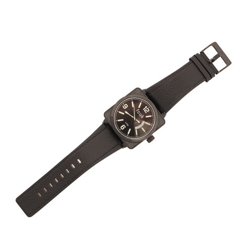 Black Case Black Dial Green Print FCUK Wrist Watch