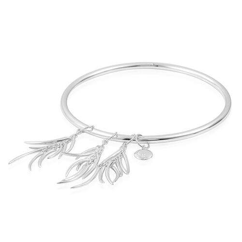 RACHEL GALLEY Sterling Silver Molto Bangle (Size 8), Silver wt 24.02 Gms.