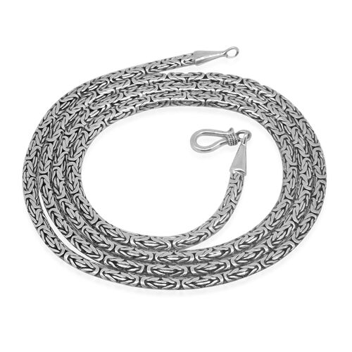 Royal Bali Collection Sterling Silver Hand Made Borobudur Necklace (Size 30), Silver wt. 33.00 Gms.