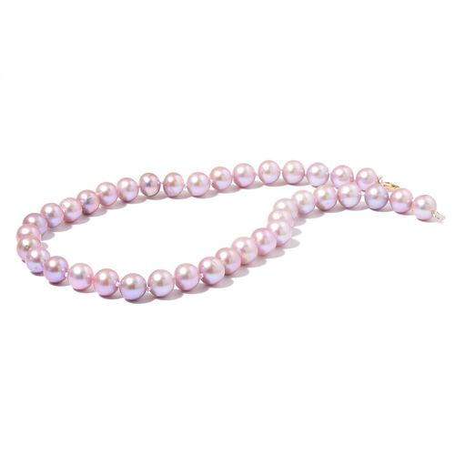 TJC First - Collectors Edition - ILIANA 18K Y Gold Fresh Water Natural Purple Pearl (Rnd 11-12mm) Ball Beads Necklace (Size 18)