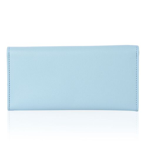 Light Blue Colour Ladies Wallet with Multiple Card Slots (Size 19X10X1 Cm)