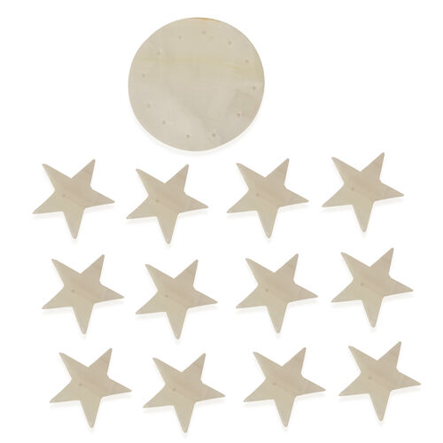 Christmas Decoration - White Star Onyx Wind Chime
