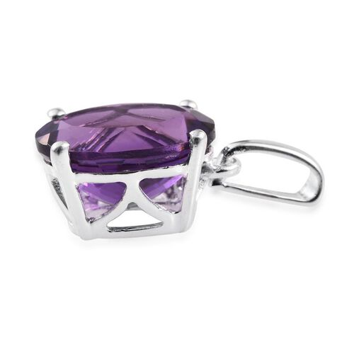 Amethyst (Ovl) Solitaire Pendant in Sterling Silver 3.000 Ct.