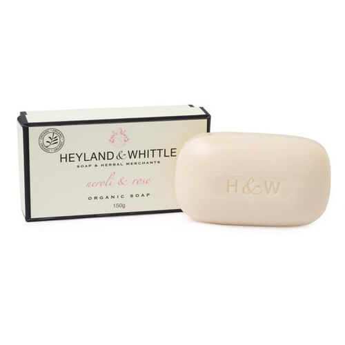 HEYLAND AND WHITTLE- Neroli and Rose body scrub, organic bar, body lotion