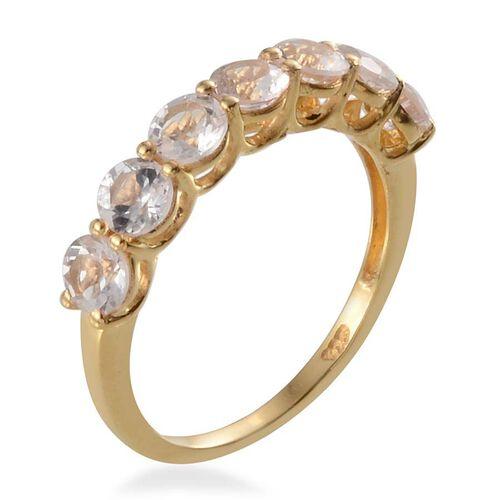 Marropino Morganite (Rnd) 7 Stone Ring in 14K Gold Overlay Sterling Silver 1.500 Ct.