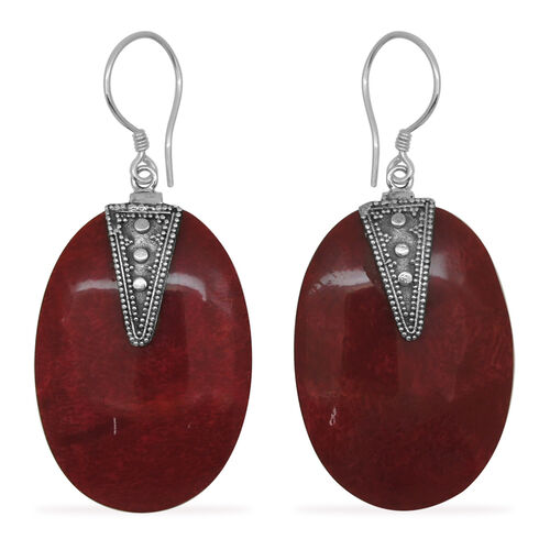 (Option 2) Royal Bali Collection Coral Hook Earrings in Sterling Silver 18.000 Ct.