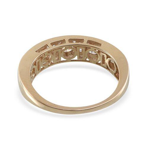 9K Y Gold (Rnd) Half Eternity Band Ring Made with SWAROVSKI ZIRCONIA 1.690 Ct.