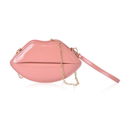 Beige Colour Lip Design Crossbody Bag with Chain Strap (Size 24.5x13.5x7 Cm)