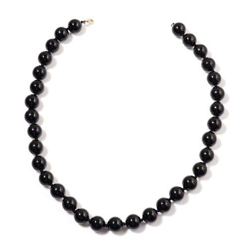 9K Y Gold Rare Australian Black Tourmaline Necklace (Size 18) 480.000 Ct.