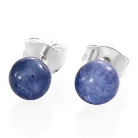 One Time Deal- Tanzanite Earrings (with Push Back) in Sterling Silver 3.500 Ct.