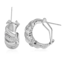 Close Out Deal - Diamond (Rnd) Earrings in Silver Plated
