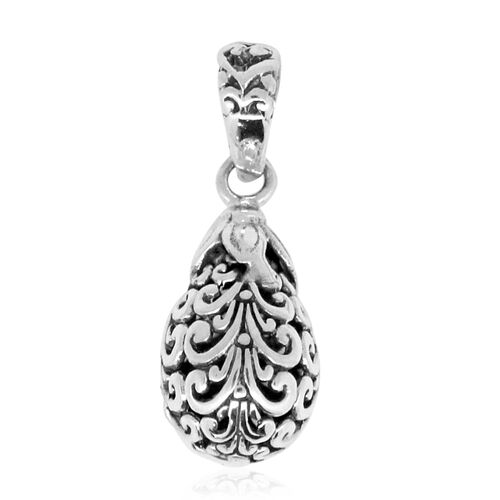 Royal Bali Collection Sterling Silver Filigree Pendant