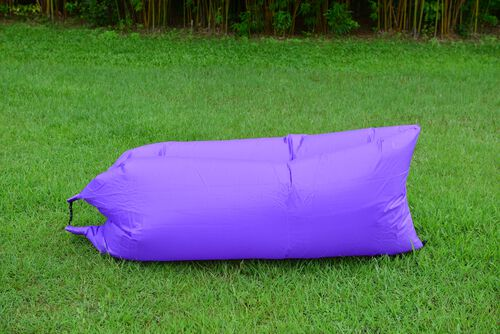 Purple Colour Self Inflating Air Lounger with Carry Pouch
