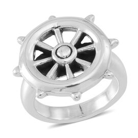 Thai Sterling Silver Wheel Design Ring, Silver wt 5.18 Gms.