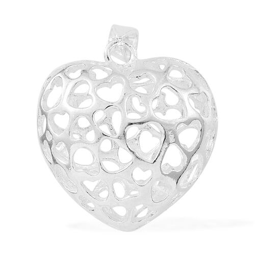 Close Out Deal- Designer Inspired Sterling Silver Heart Pendant, Silver wt. 5.12 Gms.