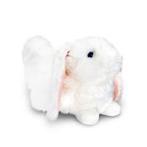 White Colour Laying Rabbit (Size 18 Cm)