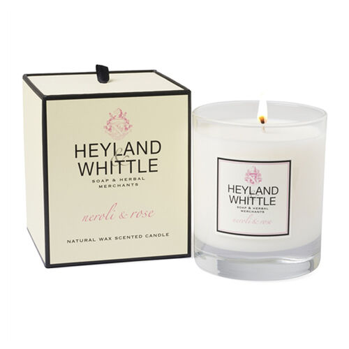 HEYLAND AND WHITTLE Neroli and Rose Body Scrub, Organic Soap, Diffuser, Candle
