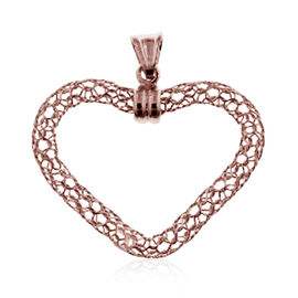 Made in Italy Rose Gold Overlay Sterling Silver Heart Pendant