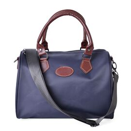 Grey Colour Bowler Bag with Adjustable and Removable Shoulder Strap (Size 28x21x18 Cm)