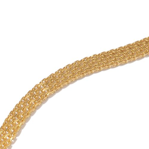 Yellow Gold Stainless Steel Adjustable Bismark Necklace (Size 18) and Bracelet (Size 7 to 11)