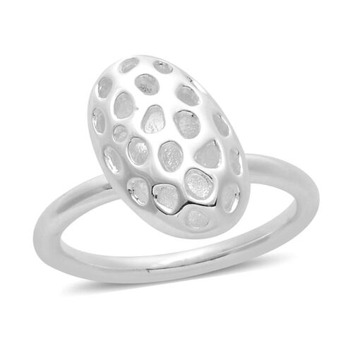 RACHEL GALLEY Sterling Silver Charmed Pebble Lattice Ring, Silver wt 4.41 Gms.
