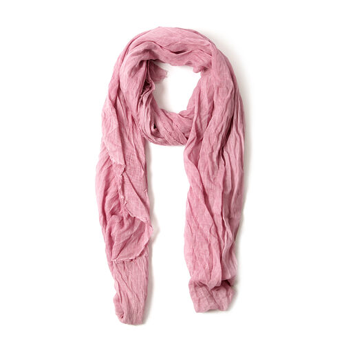 Pink Colour Printed Scarf (Size 220x100 Cm)