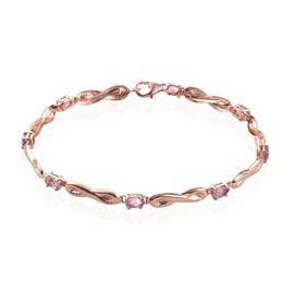 Rose De France Amethyst (Ovl) Bracelet (Size 7.5) in Rose Gold Overlay Sterling Silver 1.750 Ct.