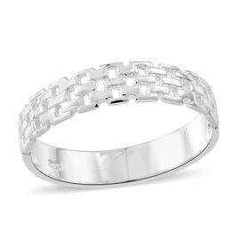 Designer Inspired Sterling Silver Mesh Band Ring