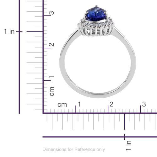 ILIANA 18K White Gold 1.50 Carat AAA Tanzanite Ring With Diamond SI G-H