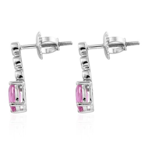 RHAPSODY 1.25 Ct AAAA Pink Sapphire and Diamond VS E-F Earrings (with Screw Back) in 950 Platinum