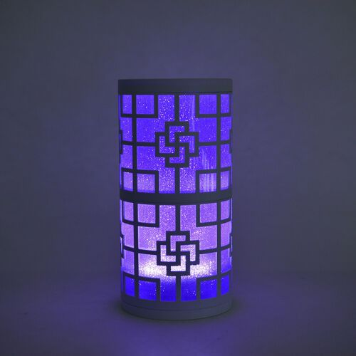 Home Decor - Chinese Knot Pattern Purple Colour LED Lamp (Size 23X11 Cm)
