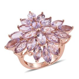 Rose De France (9.75 Ct) Sterling Silver Ring  9.750  Ct.