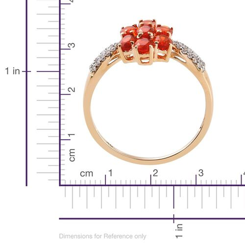 9K Y Gold AA Jalisco Fire Opal (Ovl), Natural Cambodian Zircon Ring 1.250 Ct.