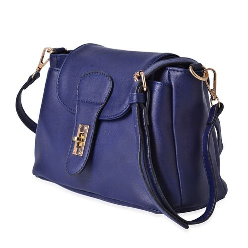 Kingston Navy Colour Crossbody Bag with Adjustable and Removable Shoulder Strap (Size 24x18x11 Cm)