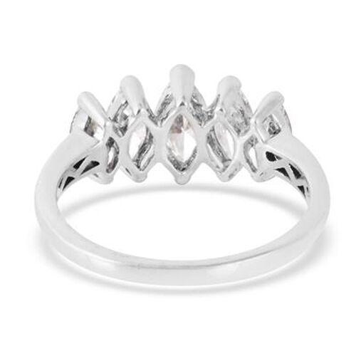 Swarovski Zirconia (1.75 Ct) Platinum Overlay Sterling Silver Ring  1.750  Ct.