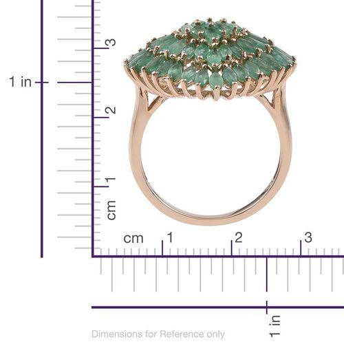 9K Y Gold AAA Kagem Zambian Emerald (Mrq) Cluster Ring 5.000 Ct.