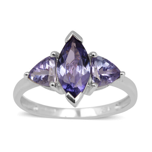 Close Out Deal 14K W Gold AA Tanzanite (Mrq 1.00 Ct) Ring 1.800 Ct.