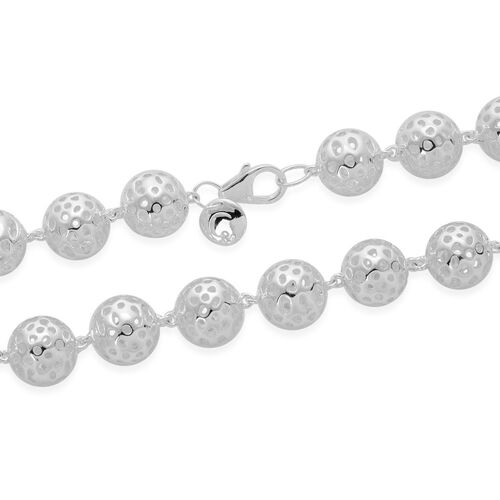 RACHEL GALLEY Sterling Silver Globe Necklace (Size 20), Silver wt 61.32 Gms.