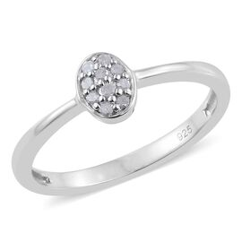 Diamond Stack Ring in Platinum Overlay Sterling Silver