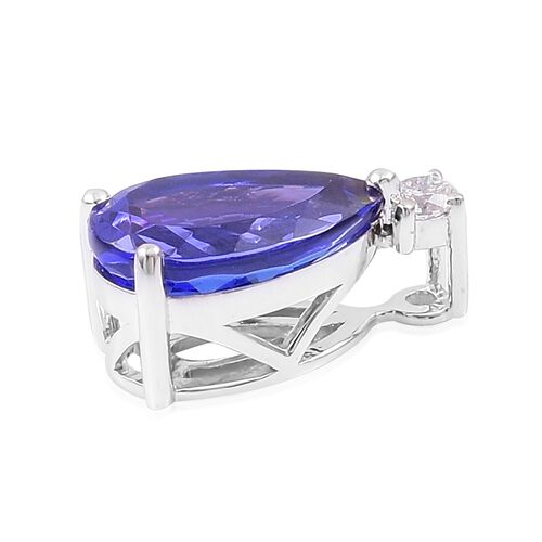 RHAPSODY 4.80 Ct AAAA Tanzanite and Diamond (VS/E-F) Pendant in 950 Platinum