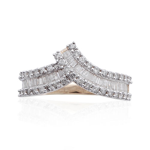 14K Y Gold SGL Certified Diamond (Bgt) (I2/ G-H) Ring 1.000 Ct.