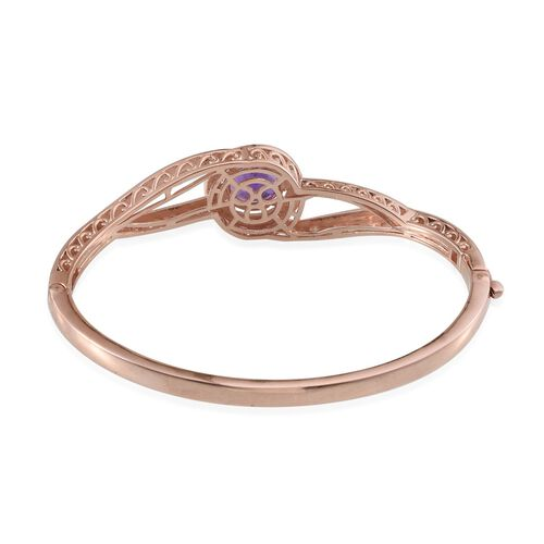 Amethyst (Rnd) Bangle (Size 7.5) in ION Plated 18K Rose Gold Bond 4.000 Ct.