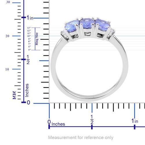14K W Gold AA Tanzanite (Ovl), Diamond Ring 1.363 Ct.