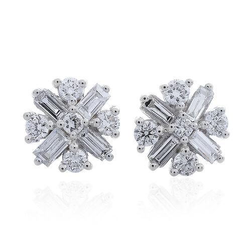 ILIANA 18K White Gold 0.50 Carat Diamond (Rnd) Stud Earrings (with Screw Back) IGI Certified  (SI/G-H)