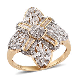 Limited Edition-Vicenza Collection Diamond (Rnd) Ring in 14K Gold Overlay Sterling Silver 1.000 Ct.